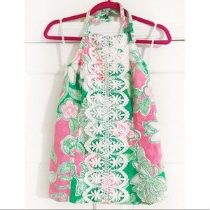 Lilly Pulitzer Hillview Halter Jacquard Top